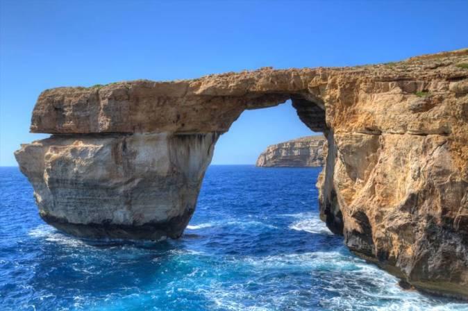 gozo island arch malta