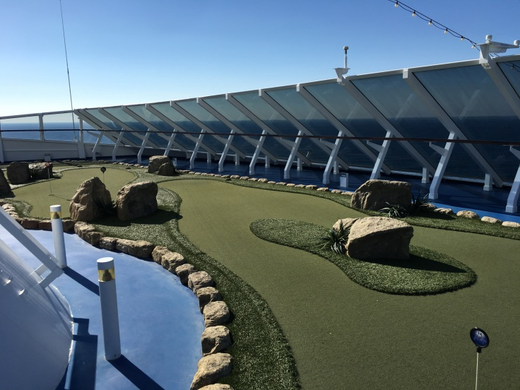 Minigolf a bordo